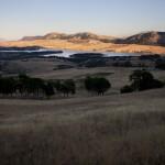 verso Portella della Ginestra, vista del lago della piana degli albanesi
